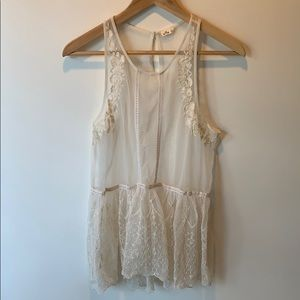 Hollister Sheer Lace Tank